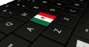 Close up of Mexico button. Stock Photography