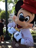 Close up of Mickey Mouse. Posing in vintage clothing stock photo