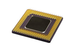 Close-up of the microchip Royalty Free Stock Photography