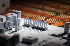 Close up microelectronics chips Stock Image