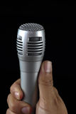 Close up microphone Stock Image