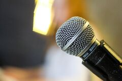 Close up of microphone Stock Photos