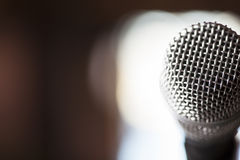 Close Up Microphone Background Stock Photography