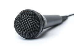 Close-up of a microphone Royalty Free Stock Photo