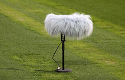 Close-up microphone boom Royalty Free Stock Image