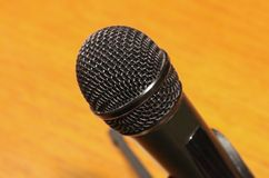 The close up of microphone grill. royalty free stock photography