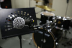 Close up of microphone   Royalty Free Stock Photography