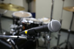 Close up of microphone   Royalty Free Stock Images