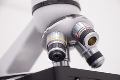 A close up of microscope. For laboratory research Royalty Free Stock Images