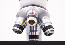 A close up of microscope. For laboratory research Stock Photos