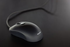 Close up of an Microsoft Mouse. Royalty Free Stock Photography