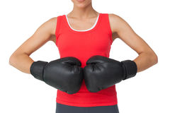 Close-up mid section of a determined female boxer Stock Photography