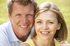 Close up of middle aged couple outdoors Royalty Free Stock Photo