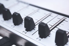 Close up MIDI Controller Royalty Free Stock Photography