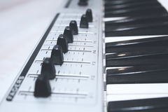Close up MIDI Controller Royalty Free Stock Photos