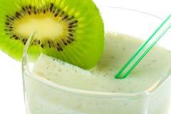 Close-up milkshake with kiwi Royalty Free Stock Photo