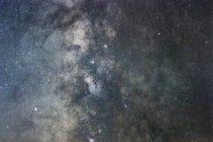 Close up of Milky way galaxy Long exposure. Stock Photos