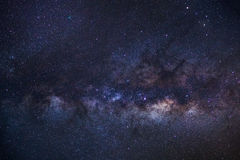 Close-up of Milky Way Galaxy,Long exposure photograph, with grai Stock Photo