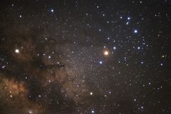 Close up of milky way galaxy with stars and space dust in the un. Iverse Royalty Free Stock Photos