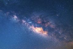 Close-up of Milky way galaxy with stars and space dust in the un. Iverse1 stock image