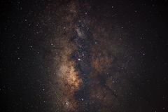 Close - up Milky Way. Long exposure photograph,with grain Stock Image