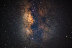 Close - up Milky Way. Long exposure photograph,with grain Royalty Free Stock Photo
