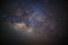Close-up of Milky Way,Long exposure photograph, with grain Royalty Free Stock Photo