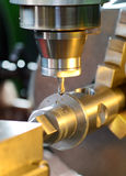 Close Up of Milling Machine in Operation Royalty Free Stock Image