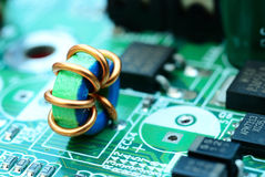Mini electronic printed ferrite ring Royalty Free Stock Images