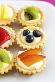 Close-up of mini fruit cupcakes elevated view Stock Photo