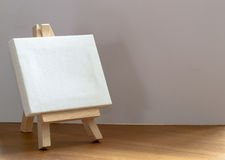 Close up of a Miniature Model Artists Easel. Close up of a wooden miniature model artists easel with copy space area and design space Stock Photography