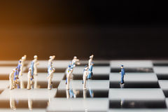 Close up of miniature people Stock Photo