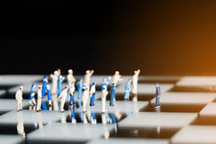 Close up of miniature people Royalty Free Stock Images