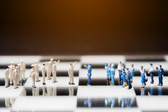 Close up of miniature people Stock Photography