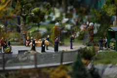 Close up of Miniature world Royalty Free Stock Image