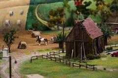 Close up of Miniature world Royalty Free Stock Photos