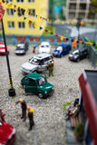 Close up of Miniature world Royalty Free Stock Images
