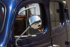 Close up of the mirror of an old car Stock Photography
