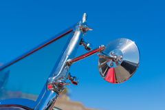 Close-up mirror sideview of classic car Royalty Free Stock Images
