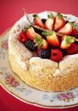 Close up mix berry cake Stock Photos