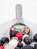 Close up of mixed candy Royalty Free Stock Image