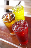 Close up mixed fruit juice Royalty Free Stock Images