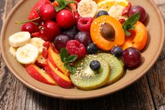 Mixed healthy eating. Close up on mixed healthy eating royalty free stock images