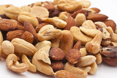 Close-up of mixed nuts Royalty Free Stock Photo
