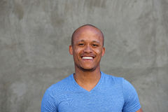 Close up mixed race man with freckles smiling Royalty Free Stock Image