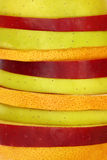Close up of mixed slices of fruit Stock Photos