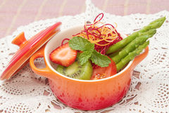 Close up of mixed vegetable and fruit salad Stock Image