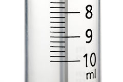 Close-up of a 10 ml syringe Stock Images