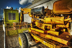 Close up of a mobile crane in hdr Stock Images