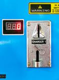 Close-up of a mobile phone battery charging station royalty free stock photos